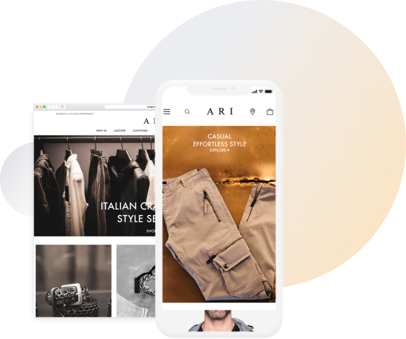 magento ecommerce site for Ari Soho by ElectricBot NJ Magento Certified Experts