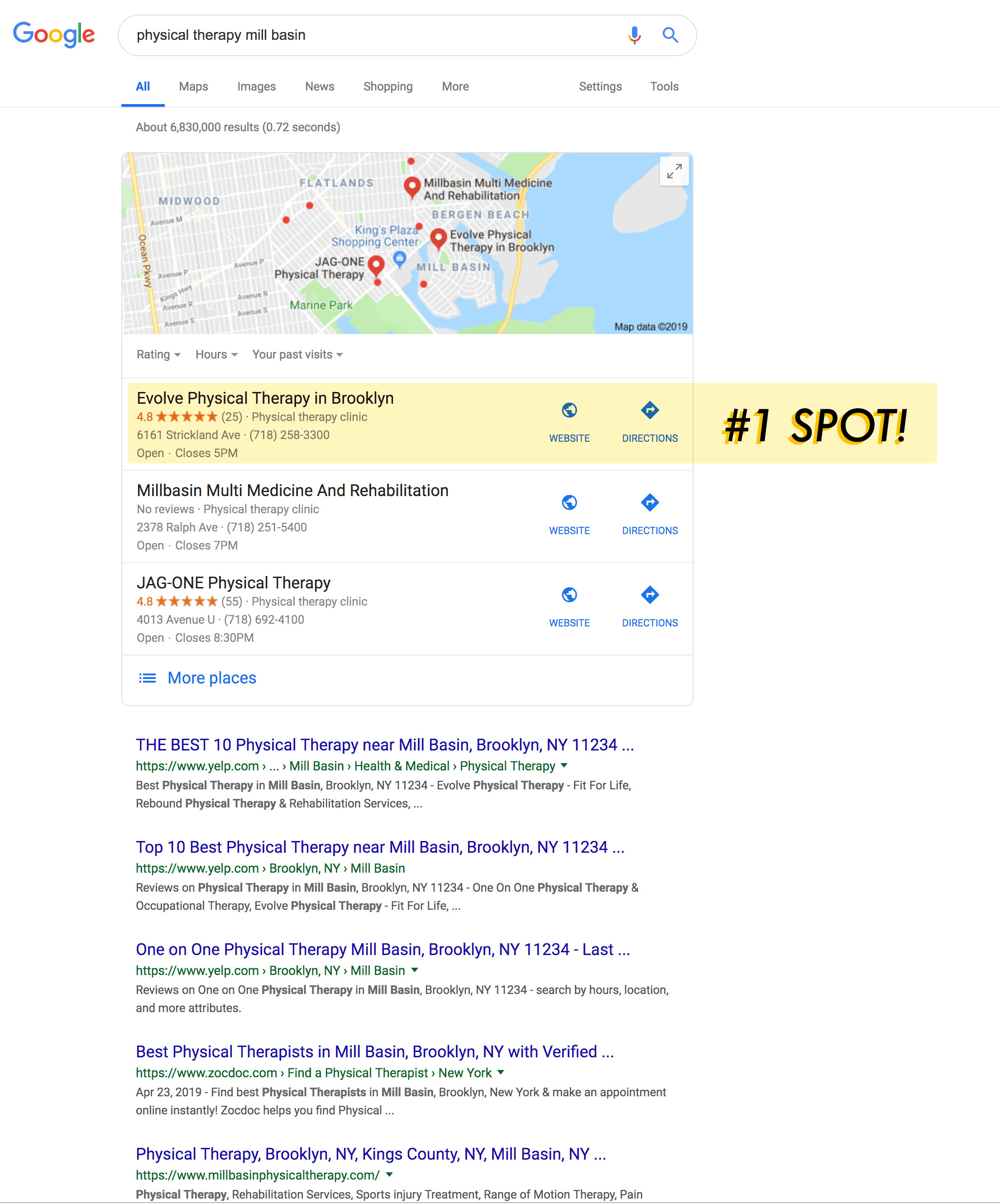 ElectricBot NJ seo and marketing for EvolveNY - ranking number 1 in google
